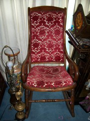 Rocking Chair tall back  antique furniture